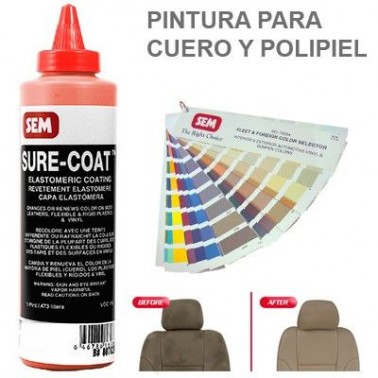 Pintura Cuero Sure Coat Rojo Oxido