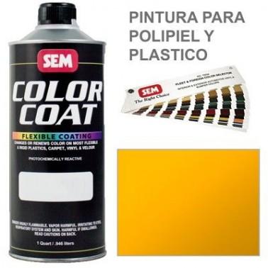 Pintura Polipiel Color Coat Amarillo Solido