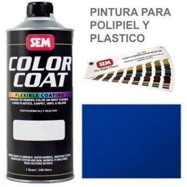 Pintura Polipiel Color Coat Azul Solido