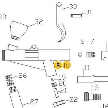 Recambio Aerografo Elite E7116 Tornillo