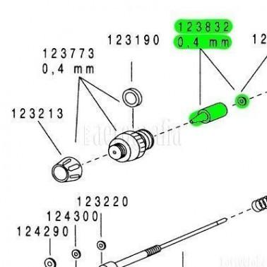Recambio Aerografo Harder Boquilla 0,4mm