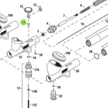 Recambio Aerografo Iwata Custom Micron Piston