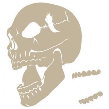 Stencil Aerografia Calavera 006