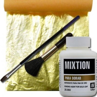 Kit Pan de Oro + Mixtion + 2 Pinceles